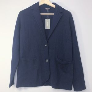 NWT J. McLaughlin Navy Wool Knit Blazer Size - S